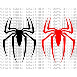 Spider logo sticker sticker from Spiderman movie
