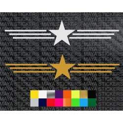 Star and stripes sticker for Bikes, royal enfield, cars and laptops