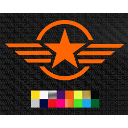 Military star and Stripes stickers for cars, bikes, laptops, helmets