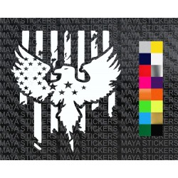 Star, stripes and eagle flag pattern design sticker in custom colors and sizes