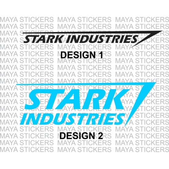 Stark Industries Logo Decal Stickers In Custom Colors And