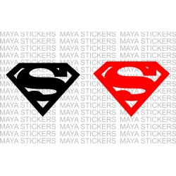 Superman logo decal stickers. (Pair of 2 Stickers)