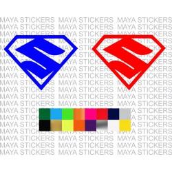 Superman style suzuki logo stickers for suzuki cars and Bikes