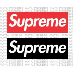 Supreme logo stickers for cars, bikes, laptops, mobile