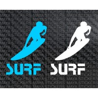 Surf logo decal stickers ( Pair of 2)