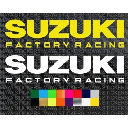 Suzuki factory racing logo sticker for cars, bikes, helmets