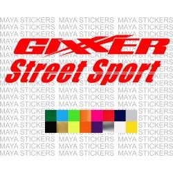 Suzuki Gixxer street sport logo sticker for Gixxer motorcycles
