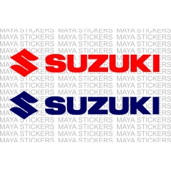 Suzuki full logo sticker / decal for cars, bikes, laptop (Pair of 2 stickers)