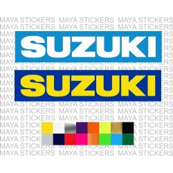 Suzuki logo sticker with background for cars, motorcycles, helmets