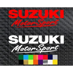 Suzuki motorsport car and bike stickers