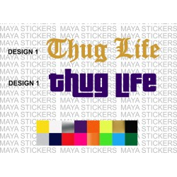 Thug Life decal stickers in 2 unique design ( Pair of 2 stickers)
