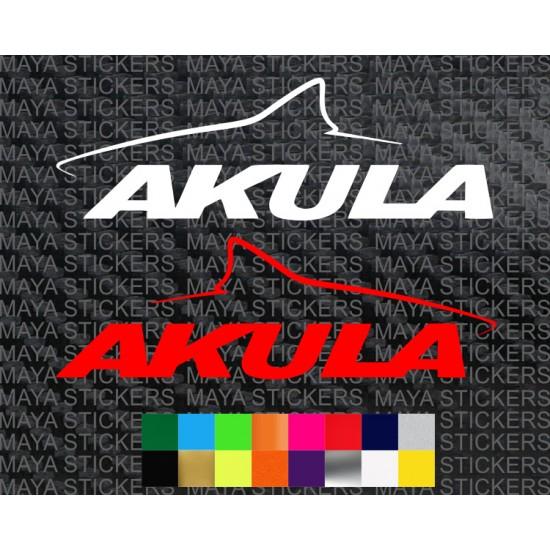 Akula Shark Logo Sticker For TVS RR 310 ( Pair Of 2 Stickers