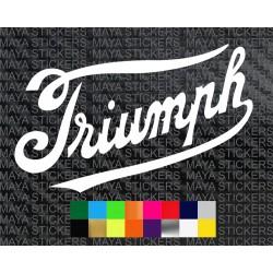 Old triumph 1907 cursive font logo sticker