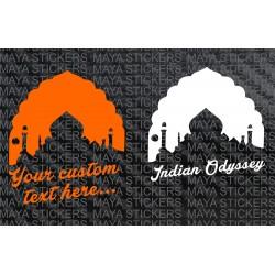 Taj Mahal silhoutte sticker with custom text