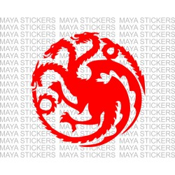 Targaryen dragon game of thrones logo stickers / decals