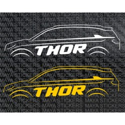 Tata Hexa outline THOR stickers  (Pair of 2 stickers )