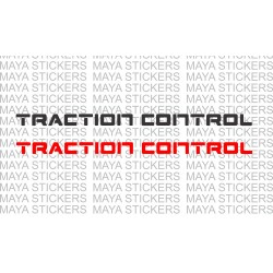 Traction control logo stickers for cars and motorcycles (Pair of 2 )