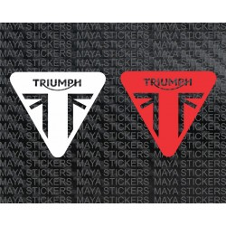 Triumph new triangular logo sticker / decal - single color