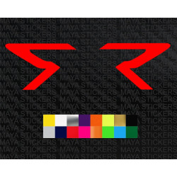 Triumph street triple 'R' logo sticker for motorcycles and helmets