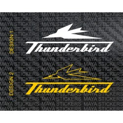 Triumph thunderbird logo decal sticker. Custom colors.