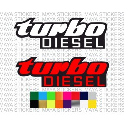 Turbo diesel stickers for cars in custom colors