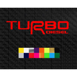 Turbo diesel logo stickers for Toyota cars, suv and trucks