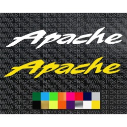 TVS Apache logo sticker for bikes and helmets