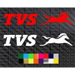 TVS Motor logo stickers for bikes, scooters, helmet