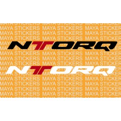 TVS Ntorq logo sticker for helmets, scooter, bikes