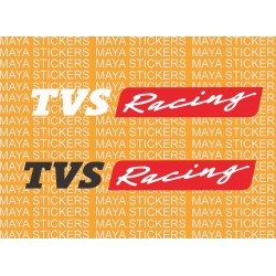 TVS racing new logo stickers for Apache RTR, RR310, helmets