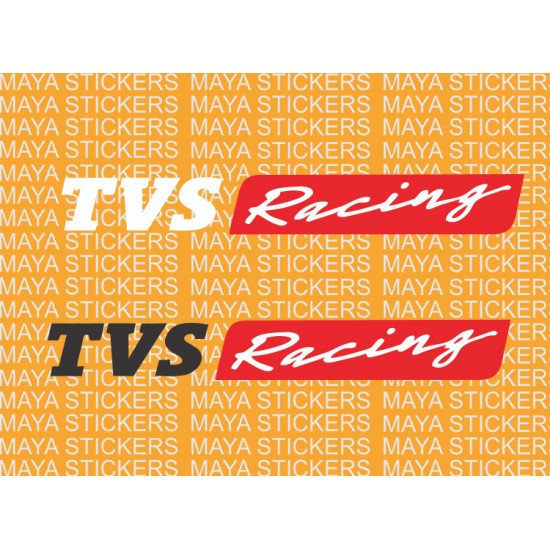 TVS Racing Logo Stickers For Bike And Helmets
