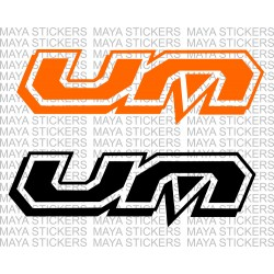 UM united motors logo decal stickers (Pair of 2 stickers )