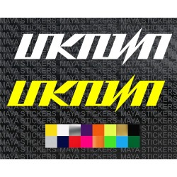 UNKNOWN bikes logo stickers for bicycles and helmets
