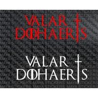 Valar Dohaeris Game of Thrones decal stickers