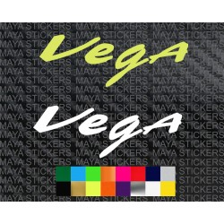 Vega helmets logo stickers ( Pair of 2 )