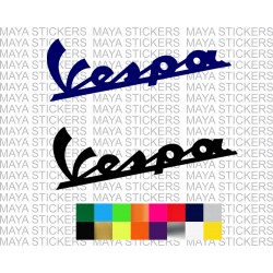 Vespa logo stickers for scooters and helmets