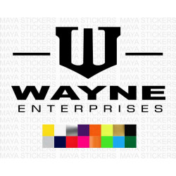 WAYNE Enterprises logo stickers for cars, bikes, laptops, wall and others