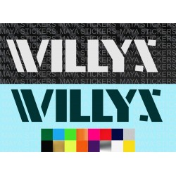 WILLYS  Jeep logo decal sticker in custom colors and sizes
