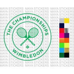 Wimbledon decal stickers for cars, laptops