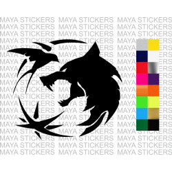 Witcher wolf and birds decal sticker for cars, bikes, laptops and others