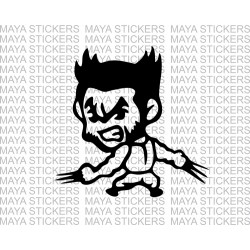 Wolverine x men cartoon style decal sticker