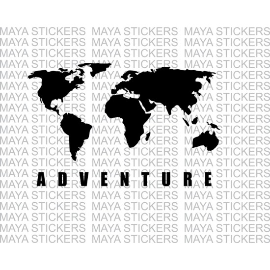 World map adventure sticker for himalayan thar and other offroaders world map adventure sticker for re himalayan thar suvs and cars gumiabroncs Gallery