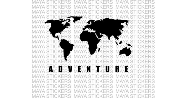 World map adventure sticker for himalayan thar and other offroaders gumiabroncs Image collections