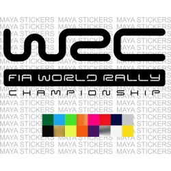 WRC - FIA World Rally Championship logo decal sticker for cars