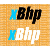 Xbhp logo stickers for Bikes / Motorcycles ( Pair of 2 stickers )