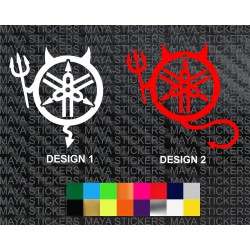 Yamaha devil logo sticker in custom colors and sizes