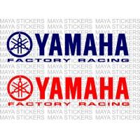 Yamaha factory racing logo decal stickers