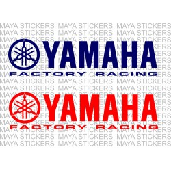 Yamaha factory racing logo decal stickers for motorcycles and helmets