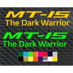 Yamaha MT15 The dark warrior logo sticker for bikes and helmets