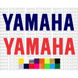 Yamaha text logo decal sticker for bikes, helmets